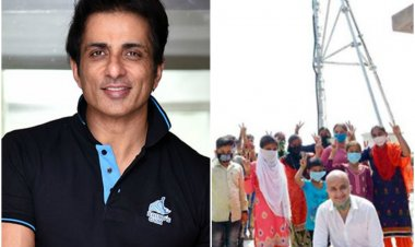 Sonu Sood installs mobile tower in Haryana village after students struggle  to access online classes