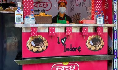 Watch video: Indore gets its first contactless Pani Puri vending machine