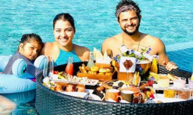 Pictures: Suresh Raina celebrates his 34th Birthday with family in Maldives