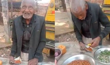 98-Year-Old UP man selling Chana Chaat to live independently is nothing but inspirational