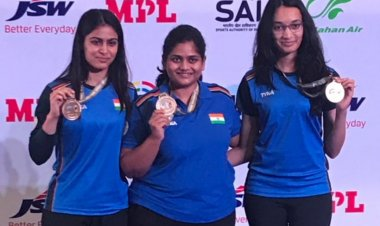 ISSF World Cup: Chinki Yadav, Rahi Sarnobat and Manu Bhaker win gold medal