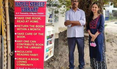 Kolkata couple opens a free street library; turns old fridge into a book shelf