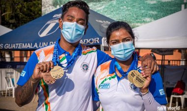 Archer duo Atanu Das and Deepika Kumari shine out at the Archery World Cup; India wins 4 medals