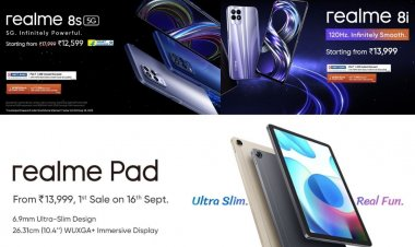 Realme launches its first tablet Realme Pad in India with two smartphones Realme 8i and Realme 8s: check specifications and prices