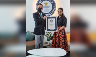 Suchetha Sathish obtains a Guinness World record for singing 120 songs in 120 languages