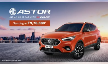 MG Astor SUV with AI tech launched in India at 9.78 lakh