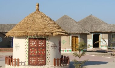 Hodka's mud huts capture every essence of Kutch as it gives all earthy feels