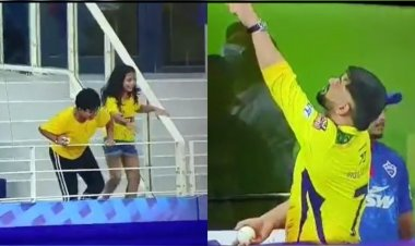 IPL 2021: MS Dhoni gifts signed ball to his young fan